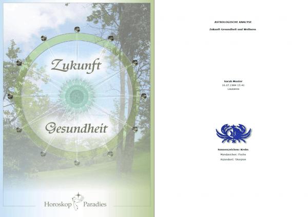 Deckblatt - Jahreshoroskop Gesundheit