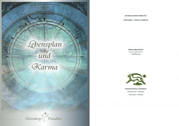 Deckblatt - Horoskop Lebensplan und Karma