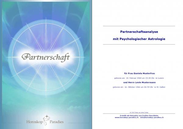 Deckblatt - Partnerschaftshoroskop