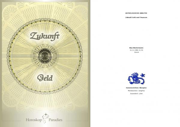 Deckblatt - Jahreshoroskop Geld